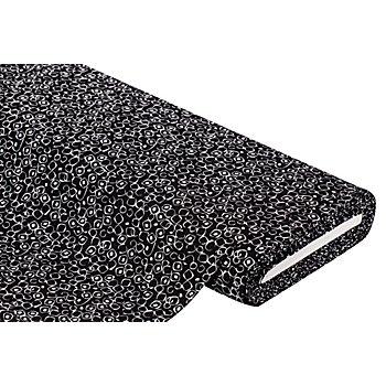 Viskose-Blusenstoff 'Ecken' mit Crinkle-Struktur, schwarz/weiß
