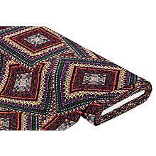 Tissu viscose pour blouses 'ethno', aspect crépon, multicolore