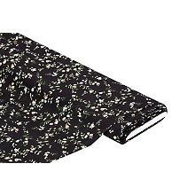 Viskose-Crêpe 'Blumenzweige', schwarz-color