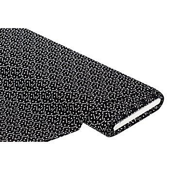 Viskose-Blusenstoff mit Crinkle-Struktur, schwarz/weiß