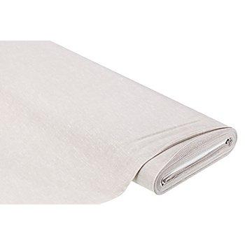 Viskose-Leinen uni, taupe/weiß