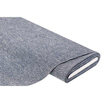 Viskose-Leinen uni, jeans/weiß