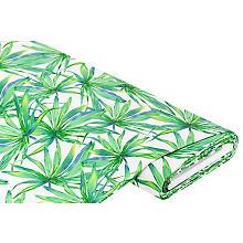 Viskose-Stretch 'Pflanzen', offwhite-color