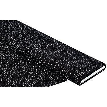 Tissu pour blouses 'pois', noir/blanc