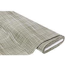 Stretchstoff 'Abstraktes Karo' mit Viskose, khaki/weiß