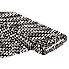 Stretchstoff 'Raute' mit Viskose, taupe/schwarz