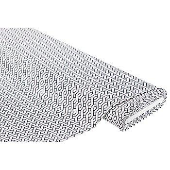 Stretchstoff 'Grafisch' mit Viskose, weiss-color