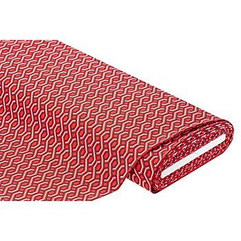 Stretchstoff 'Grafisch' mit Viskose, rot-color