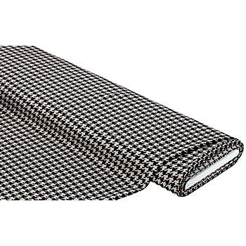Tissu extensible pour blouses 'pied de coq', taupe/noir