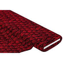 Tissu jersey en viscose 'arches', rouge/noir