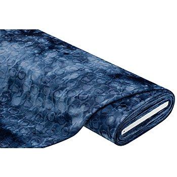 Tissu jersey jacquard 'ronds/batik', bleu jeans