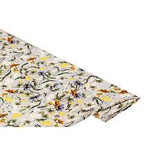 Stretch-Blusenstoff 'Blumen', taupe/gelb