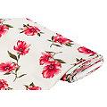 "Tissu stretch pour blouses ""fleurs et rayures"", taupe/multicolore"