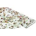 "Stretch-Blusenstoff Digitaldruck ""Schmetterlinge"", offwhite-color"