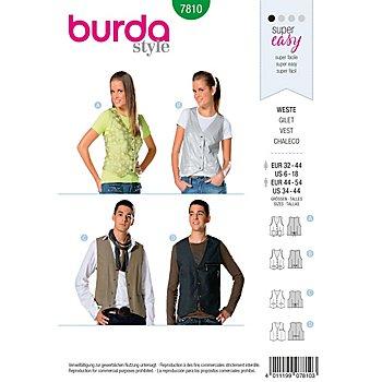 burda Schnitt 7810 'Weste' für Damen und Herren