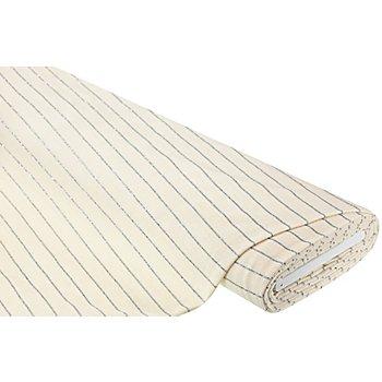 Tissu jersey aspect velours milleraies, crème/argenté