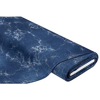 Sweat / French Terry 'Farbsprenkel', jeansblau-color