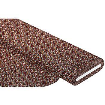 Tissu jersey en coton 'chevrons' avec de l'élasthanne, noir/rouge