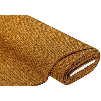 Ripp-Strickstoff 'Glitzer', ocker/gold/silber