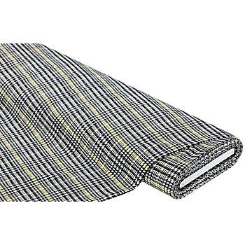 Jacquard 'Karo', schwarz/weiß/gelb