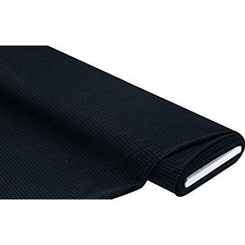 Elastik-Gewebe 'Hahnentritt', blau/schwarz