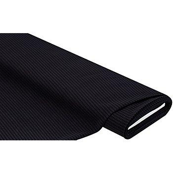 Tissu extensible 'pied de coq', gris/noir