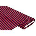 """Tissu Jersey """"rayures"""", rouge foncé/bleu marine"""