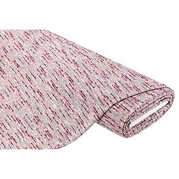 Strickstoff mit Noppen, grau/pink