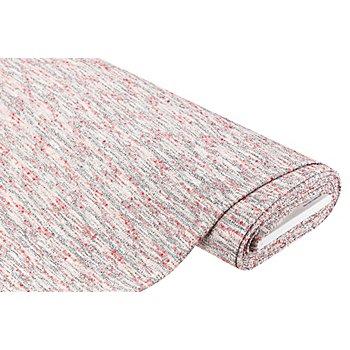 Tissu mailles avec nœuds, gris/corail