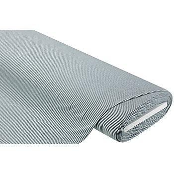 Viskose-Baumwoll-Jersey 'Streifen' mit Elasthan, grau/weiß