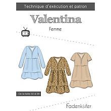 Fadenkäfer Patron 'Robe Valentina' pour femmes