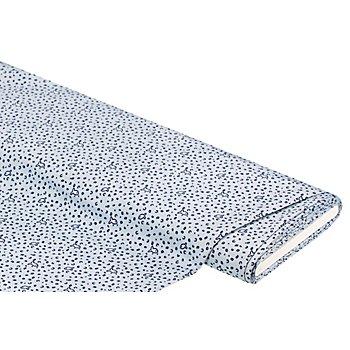 Tissu pour blouses 'poissons', bleu clair