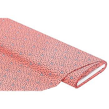 Blusenstoff 'Fische', koralle