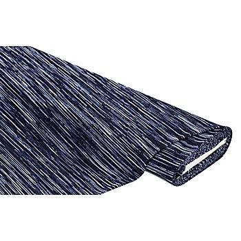 Blusen-Plissee, marine/weiß