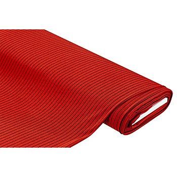 Tissu jersey côtelé, rouge/noir