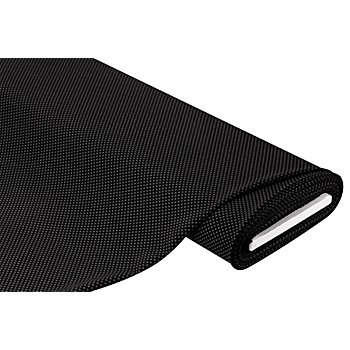 Tissu jersey romanite 'petits carreaux', noir/gris