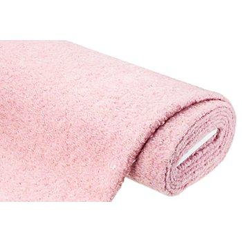Tissu aspect bouclé avec de la laine et du mohair, rose chiné
