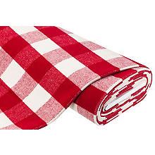 Tissu lainage 'carreaux', rouge/blanc cassé