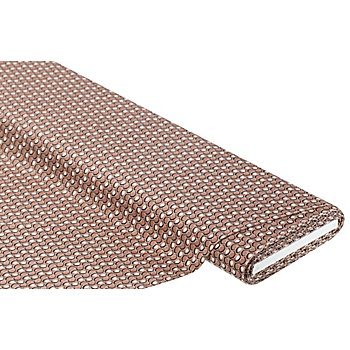 Tissu jersey extensible 'graphique', taupe/vieux rose