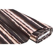 Tissu sweat-shirt / French Terry 'batik', marron foncé/rosé