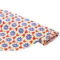 """Tissu jersey en coton """"fleurs"""" avec élasthanne, rouge/multicolore"""