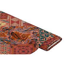 Viskose-Blusenstoff / Javanaise 'Boho', lachs-color