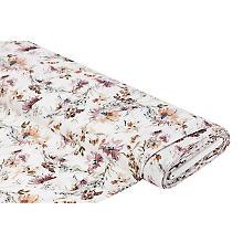 Viskose-Leinen 'Blumen', ecru-color