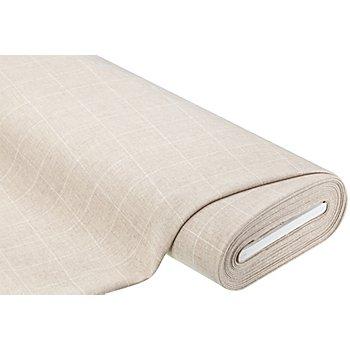 Tissu 'carreaux', nature/blanc