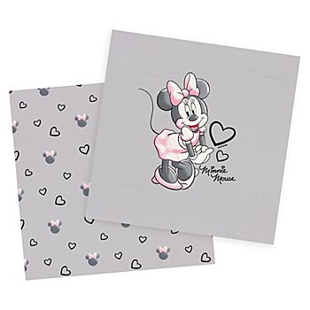 Baumwolljersey-Coupon 'Disney's Minnie Mouse' mit Elasthan, grau-color
