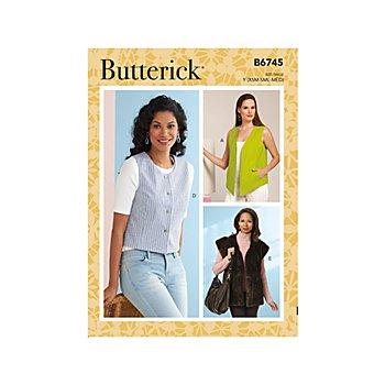 Butterick Patron B6745 'Gilet' pour femmes