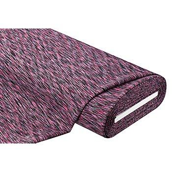 Stretchstoff / Scuba 'Neon-Melange', grau/pink