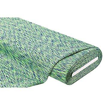 Stretchstoff / Scuba 'Neon-Melange', grün/blau