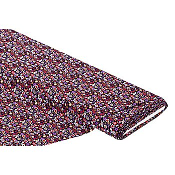 Viskose-Blusenstoff / Javanaise 'Blümchen-Allover', lila-color
