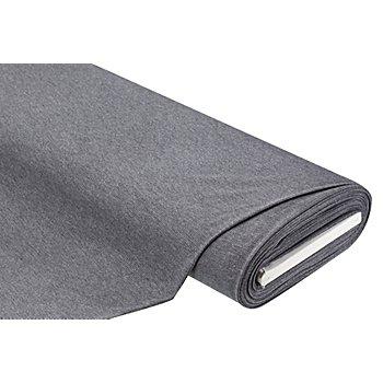 Tissu jersey à côtes, gris chiné